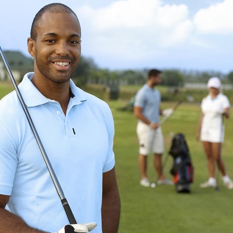 A Happy Beginner Golfer